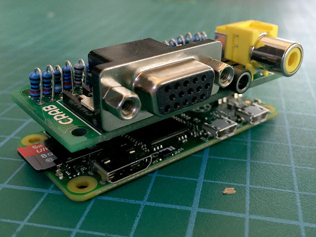 Raspberry Pi VGA, audio and composite breakout