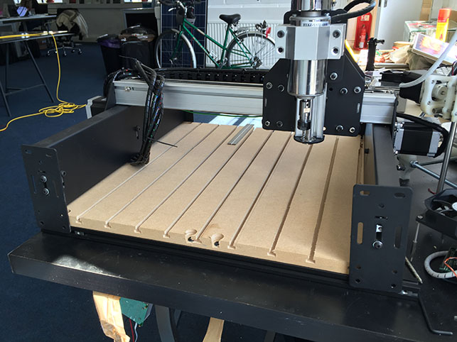 Shapeoko waste board installed